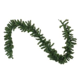 108 in. B/O Pre-Lit LED Canadian Pine Artificial Christmas Garland with Timer