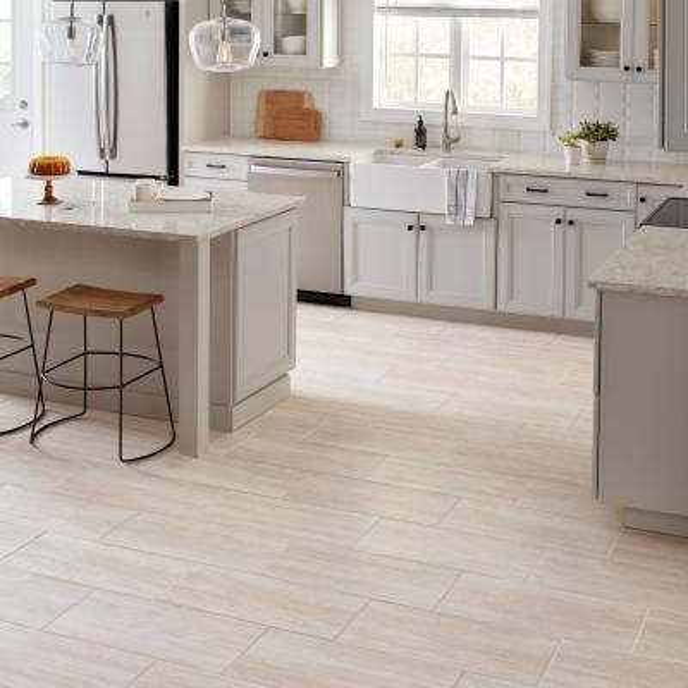 Glendale Ivory Matte 12 in. x 24 in. Glazed Porcelain Floor and Wall Tile (15.6 sq. ft./Case)