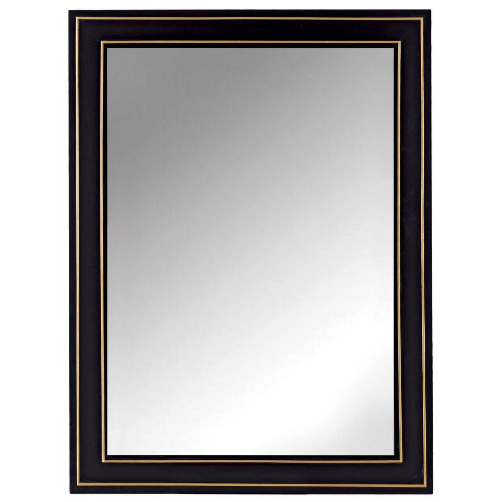 Home Decorators Collection Florence 30 In X 40 Framed Wall Mirror Black