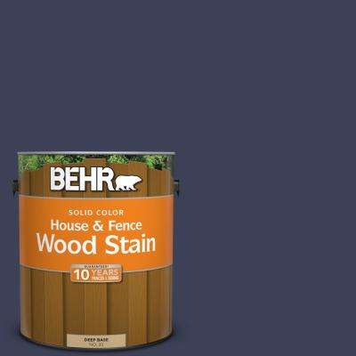 1 gal. #T16-10 Blue Vortex Solid Color House and Fence Exterior Wood Stain