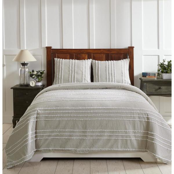 Better Trends Winston Taupe King Comforter SS-QUWIKITU