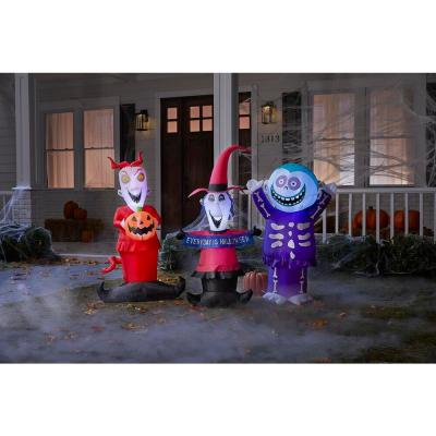 4 ft. Lock Shock and Barrel Disney Halloween Inflatable Pack