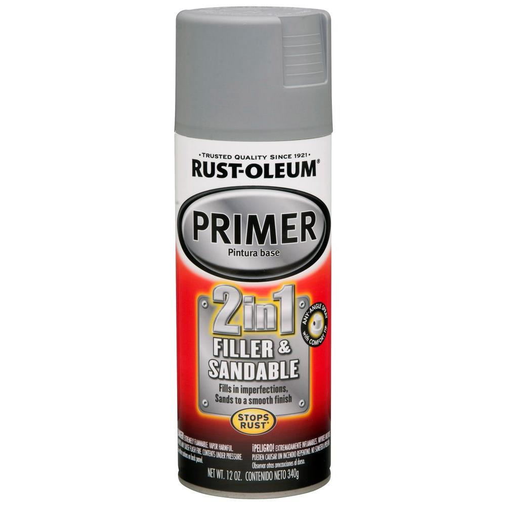 Rust-Oleum Automotive 12 oz. 2 in 1 Filler and Sandable Primer Spray (6-Pack)