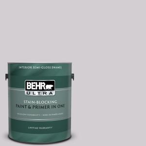 Behr Ultra 1 Gal N570 1 Opera Semi Gloss Enamel Interior Paint And Primer In One 375001 The Home Depot