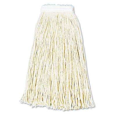 Premium Cut-End Wet Mop Heads, Cotton, 16oz, White, 12/Carton
