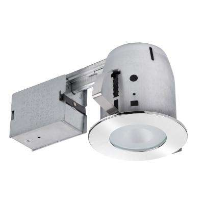 4 in. Bathroom Chrome Recessed Lighting Kit with Clear Glass Spot Light