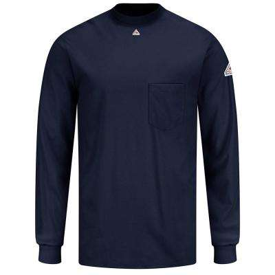 EXCEL FR Men's Large Navy Long Sleeve Tagless T-Shirt