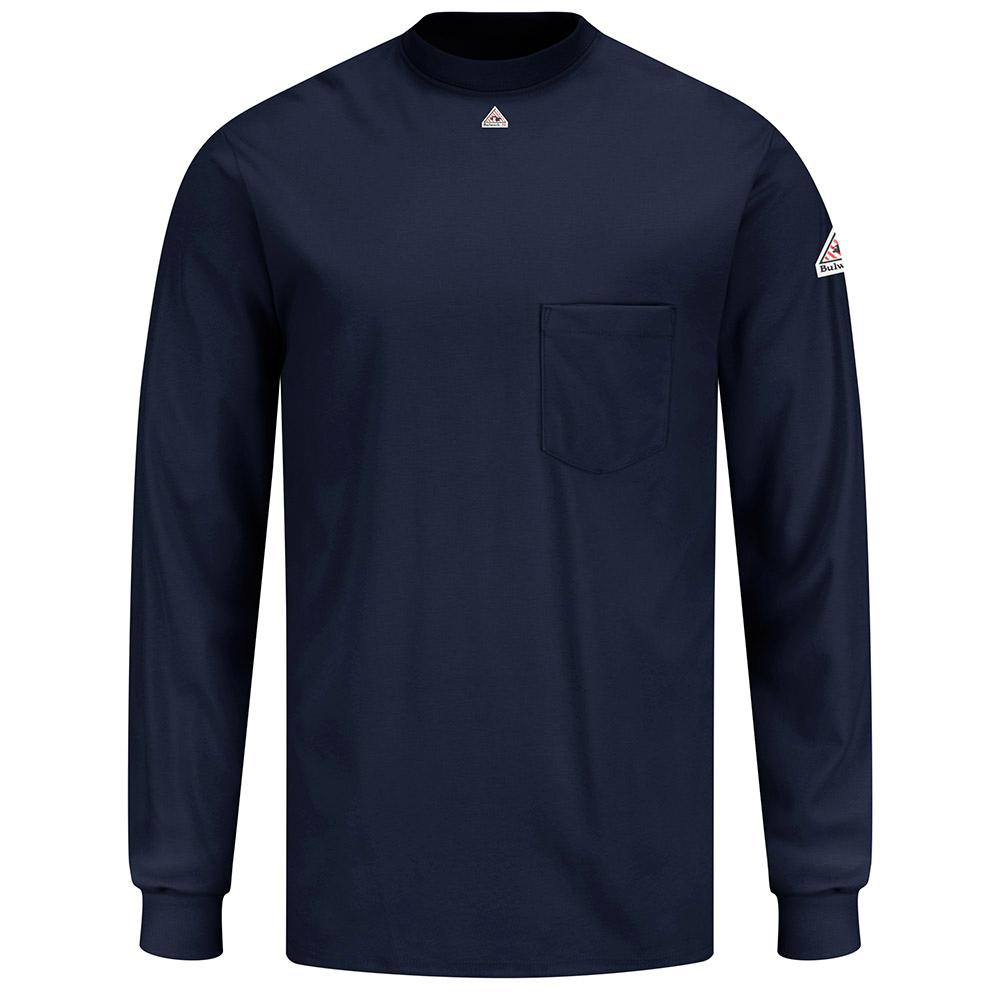 Bulwark EXCEL FR Men's Small Navy Long Sleeve Tagless T-Shirt