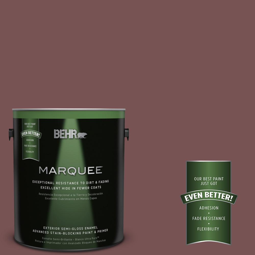 BEHR MARQUEE 1-gal. #120F-6 Japanese Maple Semi-Gloss Enamel Exterior Paint