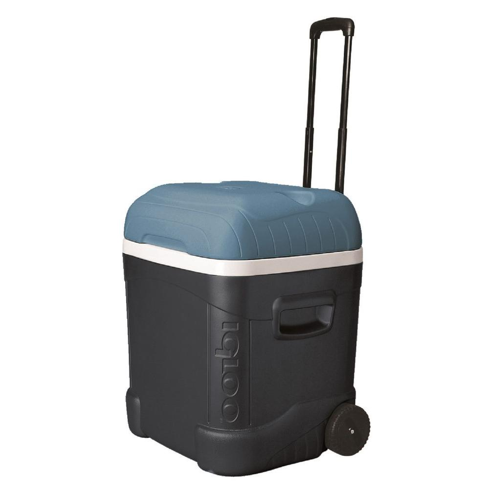 IGLOO Maxcold 70 Qt. 2-Wheeled Ice Cube Cooler with Built-In Cup  Holders-34071 - The Home Depot