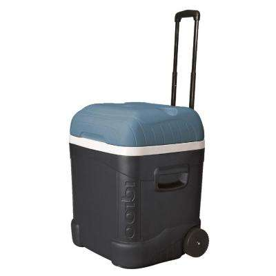 Maxcold 70 Qt. 2-Wheeled Ice Cube Cooler with Built-In Cup Holders