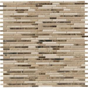 MSI Emperador Blend Bamboo 12 in. x 12 in. x 10 mm Brown Marble Mesh ...