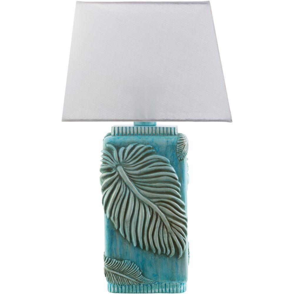 Miksa 27 in. Aqua Indoor/Outdoor Table Lamp