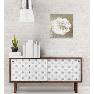 "12 in. x 12 in. ""Simple Kiss Champagne"" By Wynwood Studio Canvas Wall Art"