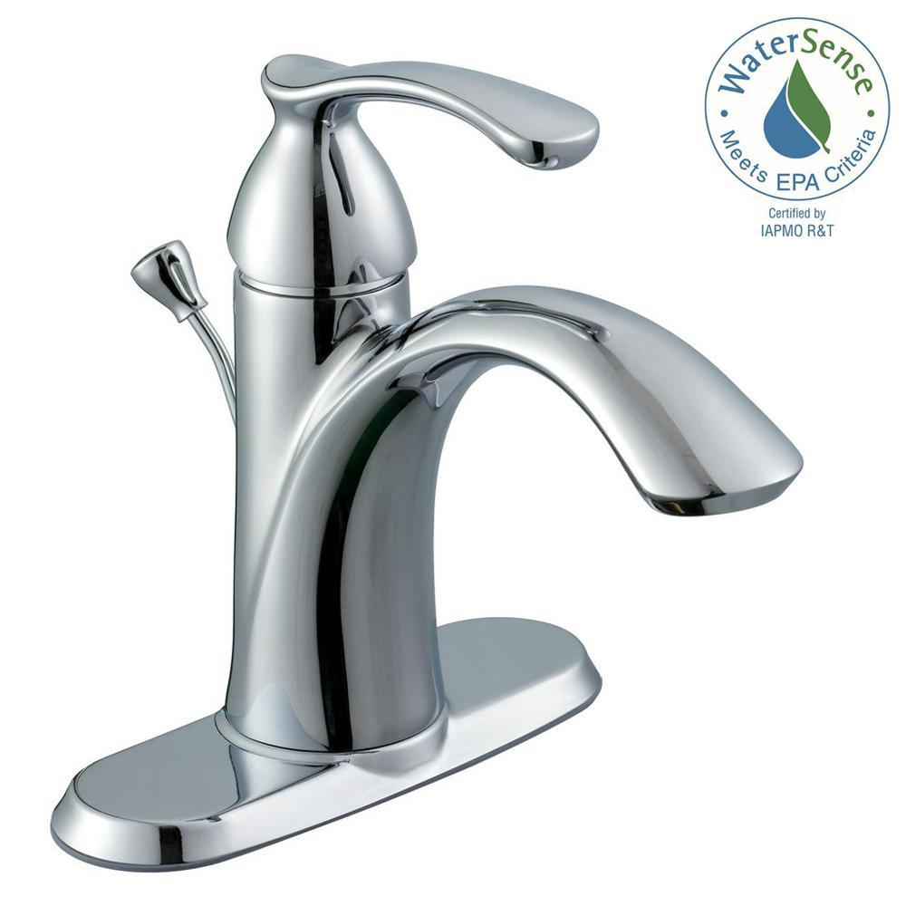 Bathroom Faucet Glacier Bay glacier bay edgewood 4 in. centerset 1-handle bathroom faucet in