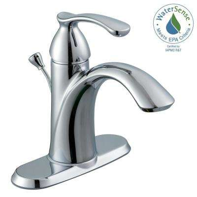 Edgewood 4 in. Centerset 1-Handle Bathroom Faucet in Chrome