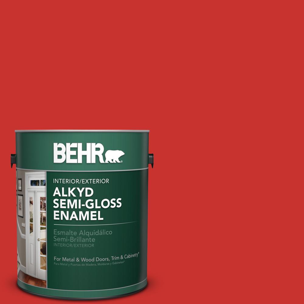 1 gal. #P170-7 100 Mph Semi-Gloss Enamel Alkyd Interior/Exterior Paint