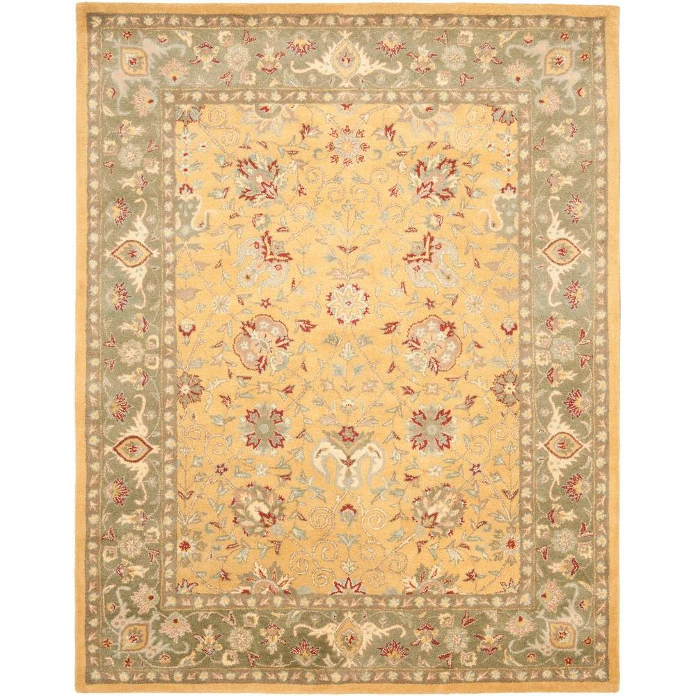 safavieh antiquity gold 9 ft 6 in x 13 ft 6 in area rug at21c 10 the home depot. Black Bedroom Furniture Sets. Home Design Ideas