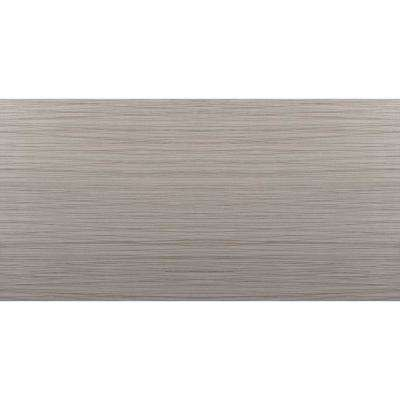 Thread Gray Matte 11.81 in. x 23.62 in. Porcelain Floor and Wall Tile (15.504 sq. ft. / case)
