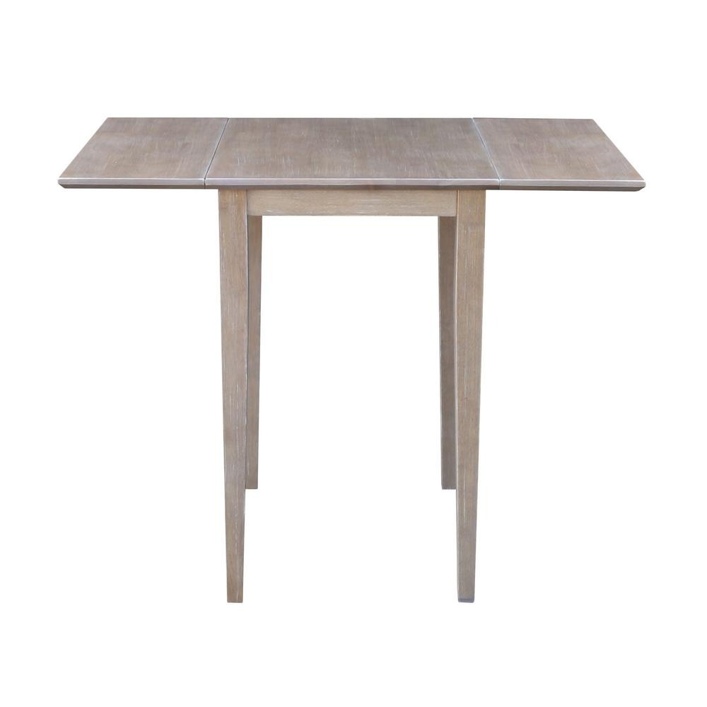 International Concepts Weathered Taupe Gray Small Drop Leaf Dining Table T09 2236d The Home Depot