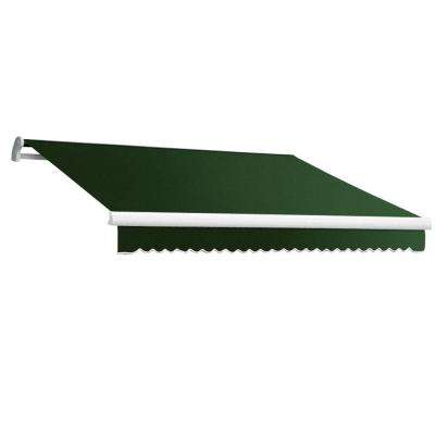18 ft. MAUI EX Model Right Motor Retractable Awning (120 in. Projection) in Forest Green