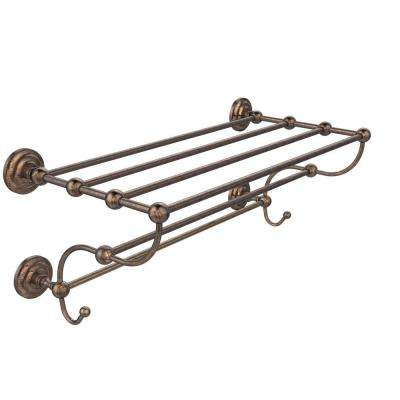 Prestige Que New Collection 24 in. W Train Rack Towel Shelf in Venetian Bronze
