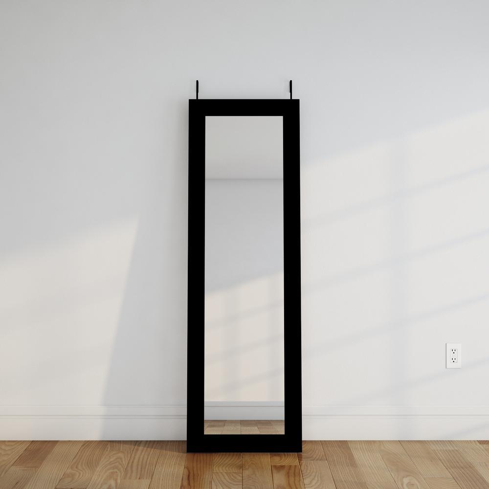 Beau Black Over The Door Full Length Framed Mirror