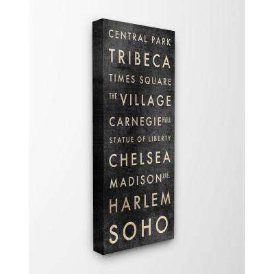 "10 in. x 24 in. ""NYC Subway Places And Parks"" by Aubree Perrenoud Printed Canvas Wall Art"
