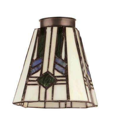 5-1/8 in. Square Tiffany Shade with 2-1/4 in. Fitter and 4-3/4 in. Width