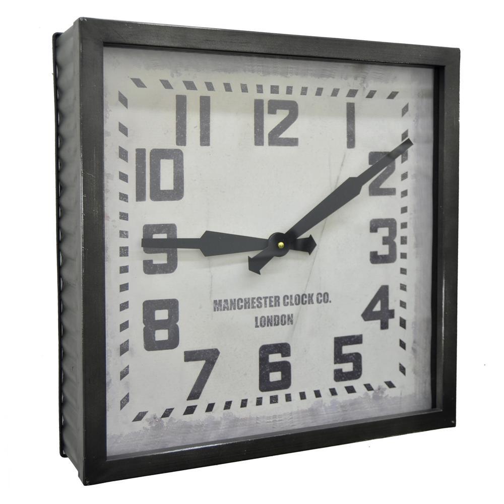 16 in. x 3.5 in. Wall Clock in Black