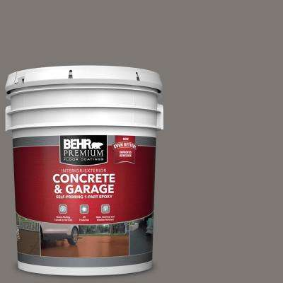 5 gal. #PFC-74 Tarnished Silver 1-Part Epoxy Satin Interior/Exterior Concrete and Garage Floor Paint