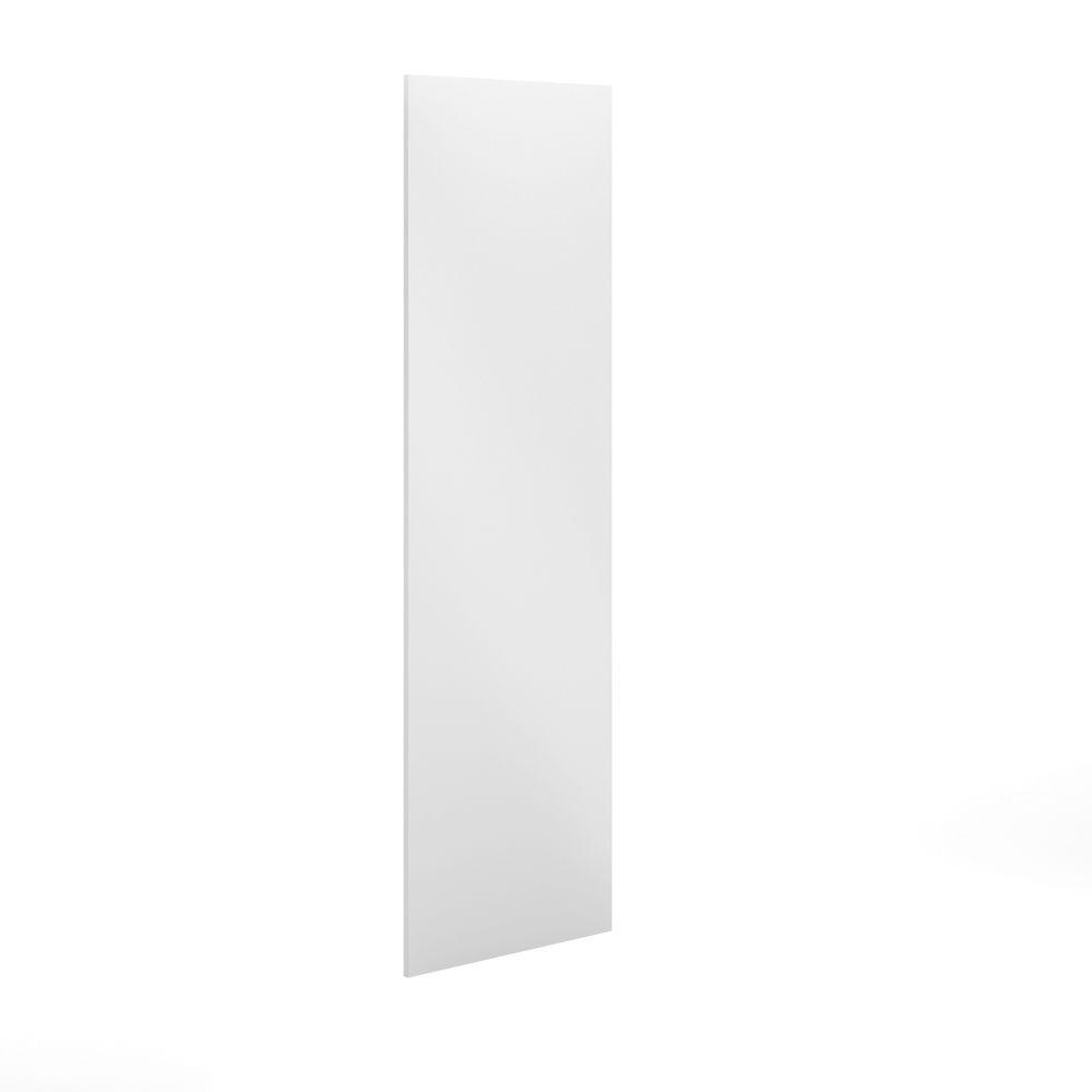 30x91x0.75 in. Finishing End Panel in Painted White Melamine