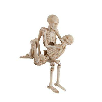 7.75 in. x 7 in. Halloween Polyresin Skeleton Couple Set (Carry)