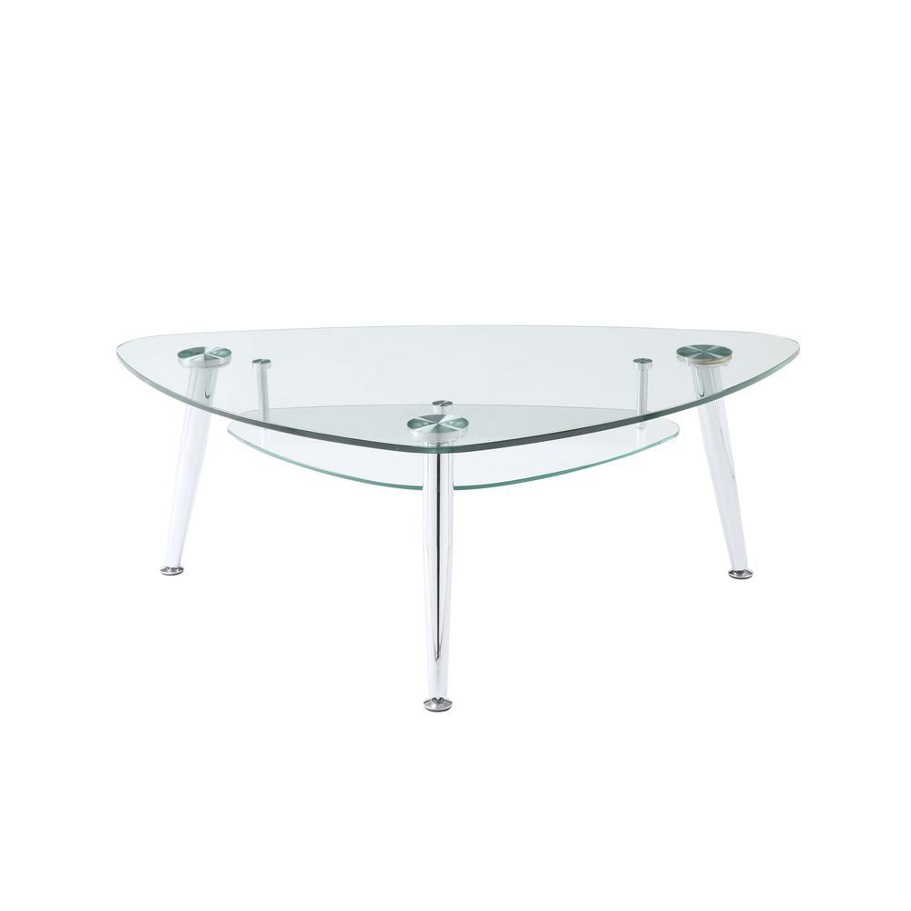 Acme Furniture Phlox Chrome, Mirrored And Clear Glass