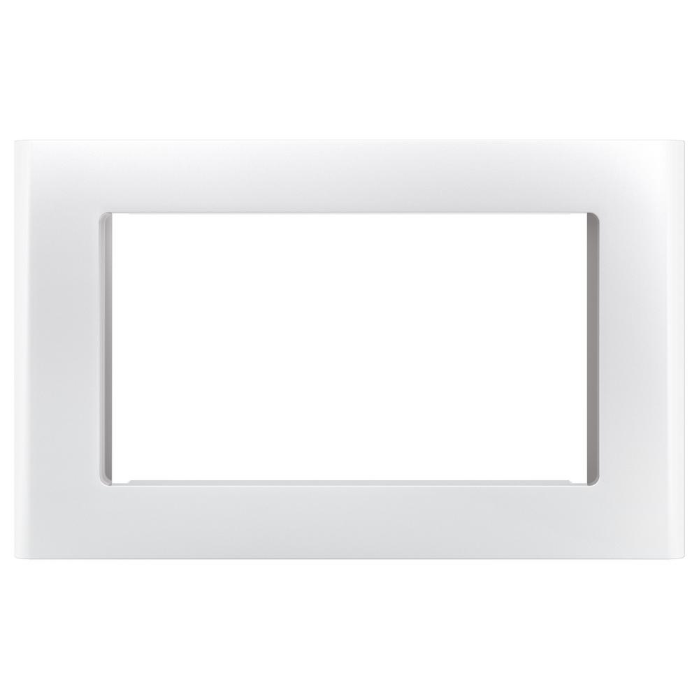 Cafe Microwave Optional 27 in. Built-In Trim Kit in Matte White, Fingerprint Resistant Get a custom appearance for your microwave with the Cafe Built-In 27 in. Microwave Trim Kit in Matte White. With a timeless look, this trim kit is ideal for the home or office to be enjoyed for years and years to come. It is intended for the Cafe 1.5 cu. ft. microwave oven.