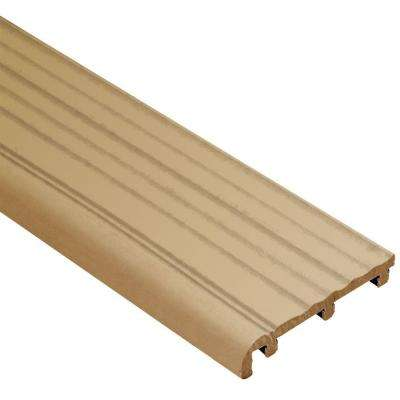 Trep-B Light Beige 2-1/16 in. x 8 ft. 2-1/2 in. Thermoplastic Rubber Replacement Insert