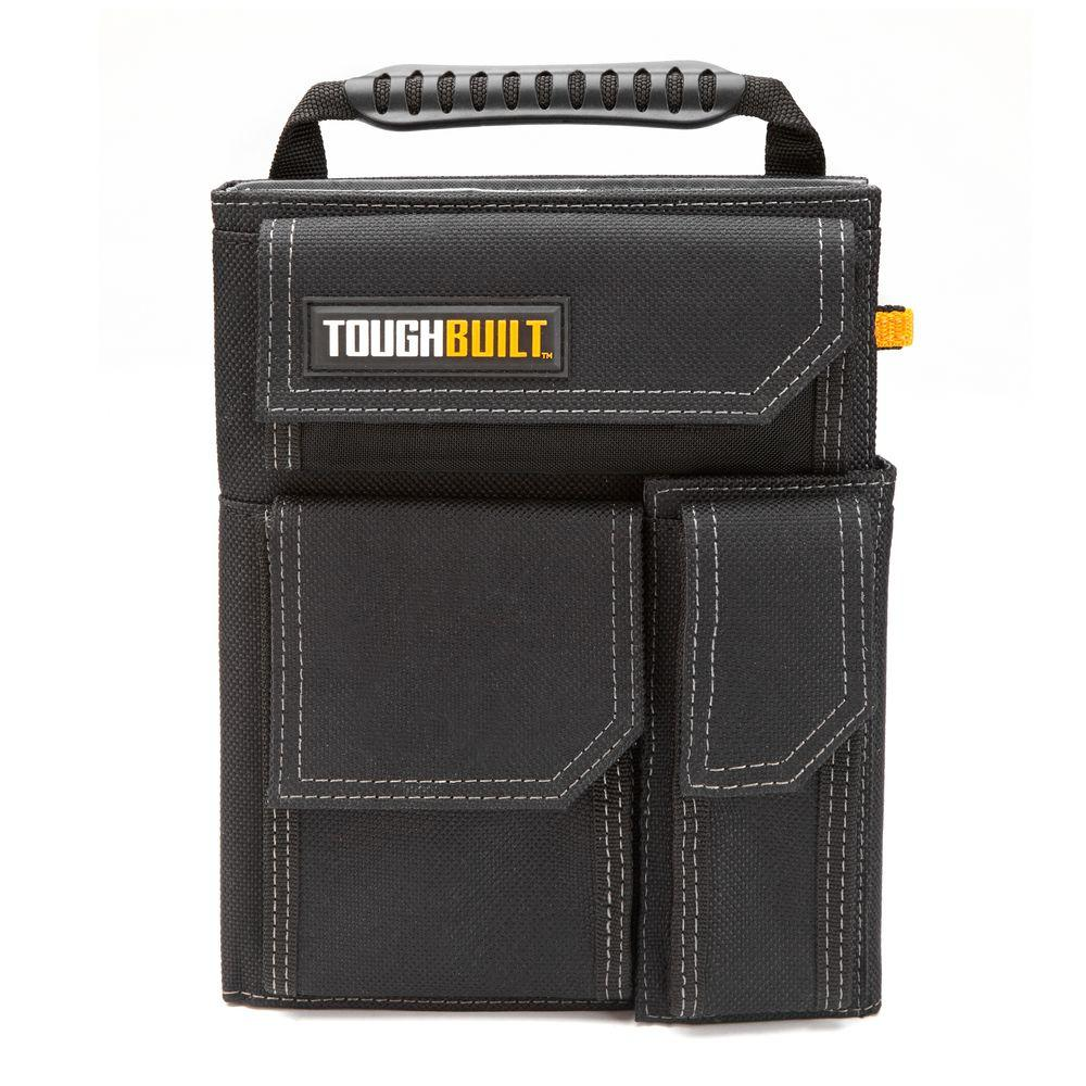 toughbuilt in black organizer and grid notebook tb
