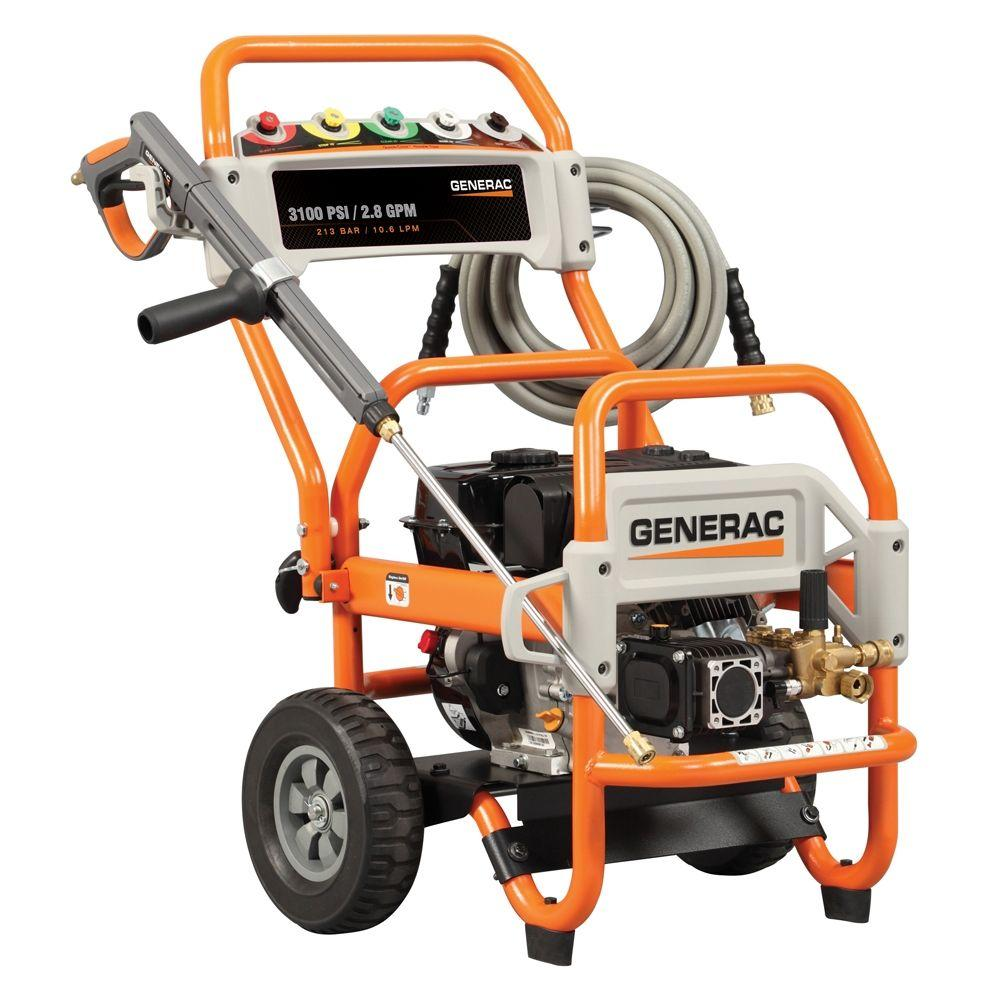 Generac 3100-PSI 2.8-GPM OHV Engine Triplex Pump Gas Powered Pressure Washer