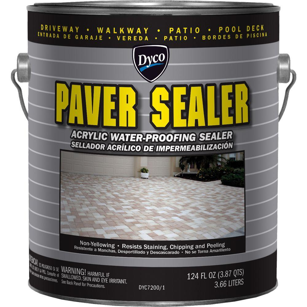 Dyco paints paver sealer 1 gal 7200 clear gloss exterior solvent acrylic sealer dyc7200 1 the - Acrylic paint exterior plan ...
