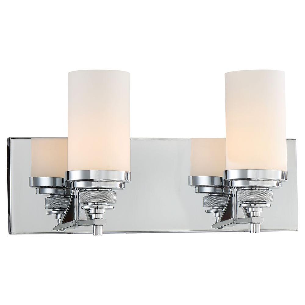 Brushcreek 2-Light Chrome Bath Vanity Light