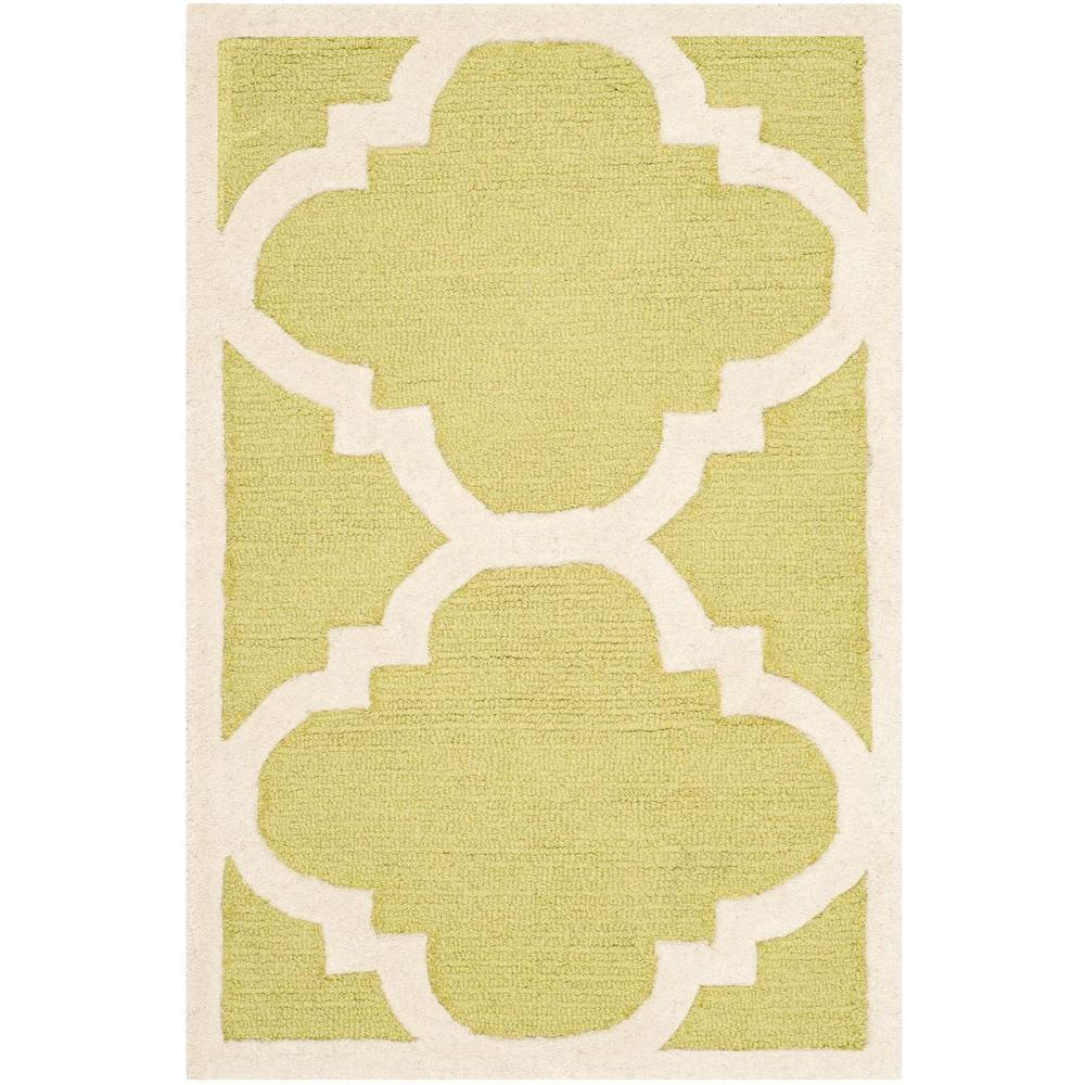 Cambridge Green/Ivory 2 ft. x 3 ft. Area Rug