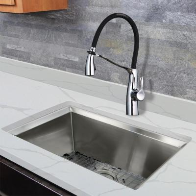 Organix Single Handle Pull Out Sprayer Kitchen Faucet in Polished Chrome