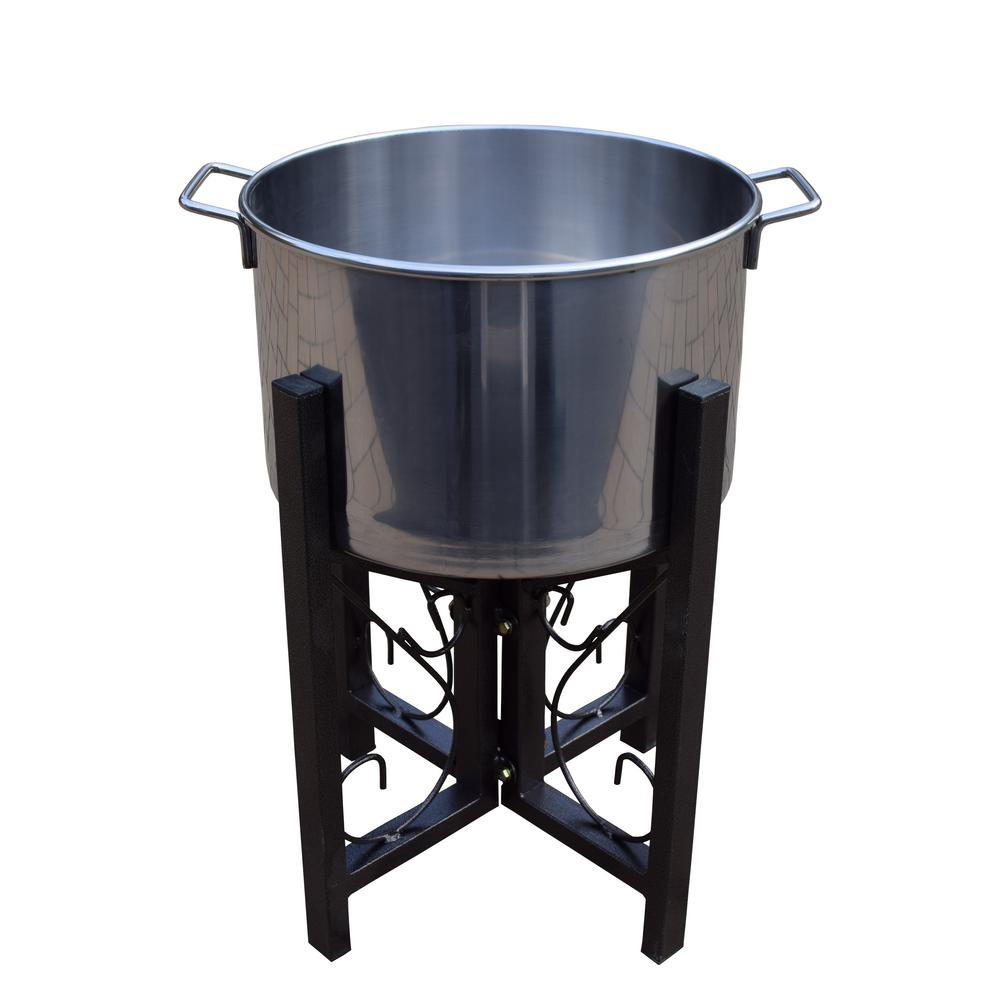 14 in. Stainless Steel Ice Bucket and Stand