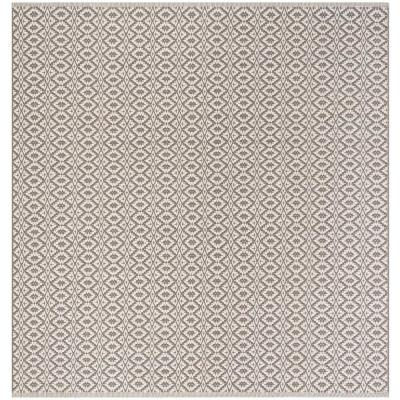 Montauk Ivory/Gray 6 ft. x 6 ft. Square Area Rug