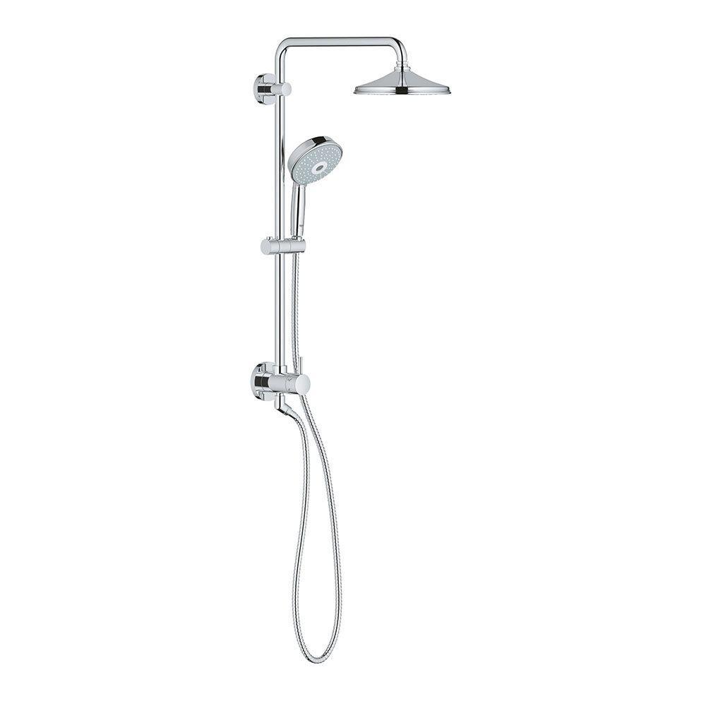 rain shower head combo. GROHE Retro Fit Bundle Rainshower Rustic 3 Spray Hand Shower and  Head Combo Kit in StarLight Chrome 26125000 The Home Depot