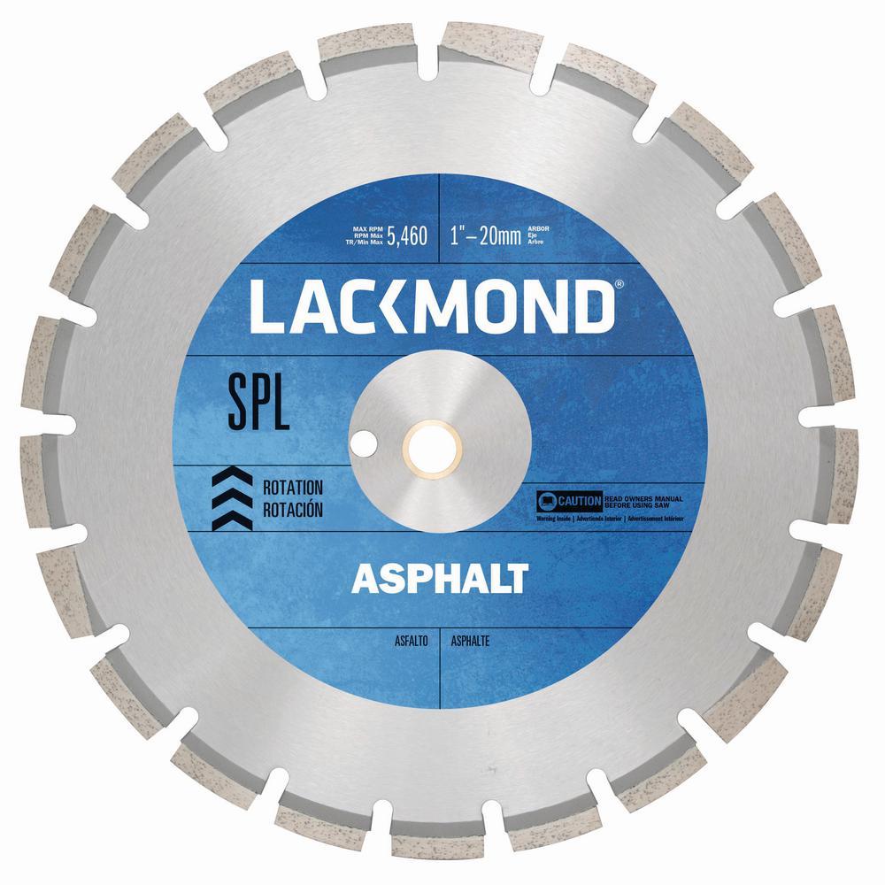 SPL Series Asphalt/Block Blade 16 in. x 0.125 in. - 1 in. 20 mm Arbor