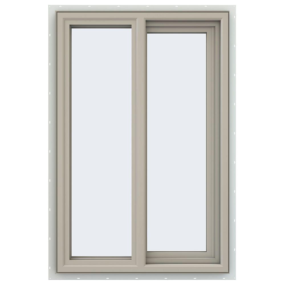23.5 in. x 35.5 in. V-4500 Series Desert Sand Vinyl Right-Handed Sliding Window with Fiberglass Mesh Screen