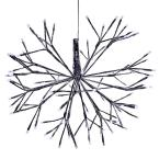 16 in. Tall Holiday 3D Snowflake White Hanging Ornament with LED Lights