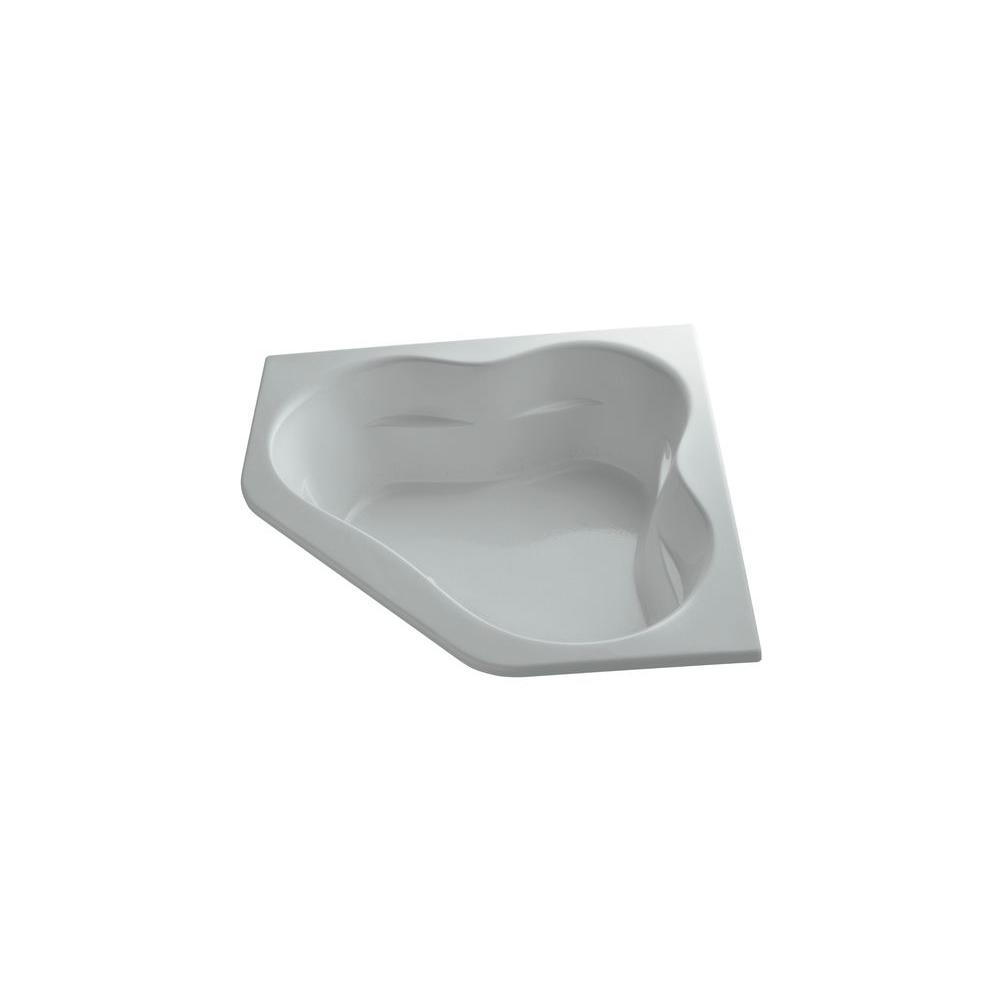 KOHLER Tercet 5 ft. Air Bath Tub in Ice Grey-DISCONTINUED