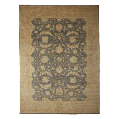 Oushak Gray 9 ft. x 12 ft. Indoor Area Rug